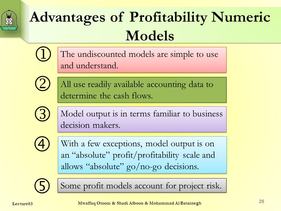 Advantages of Profitability Numeric Models