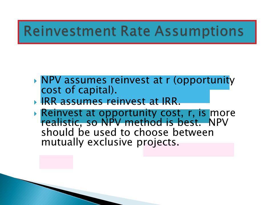 Reinvestment Rate Assumptions