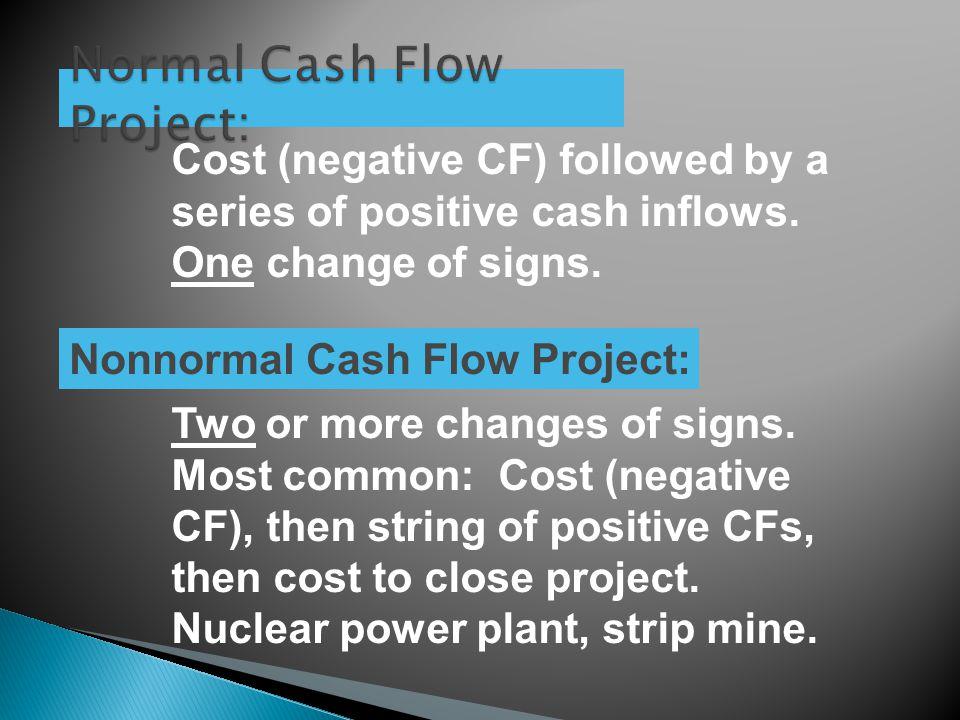 Normal Cash Flow Project: