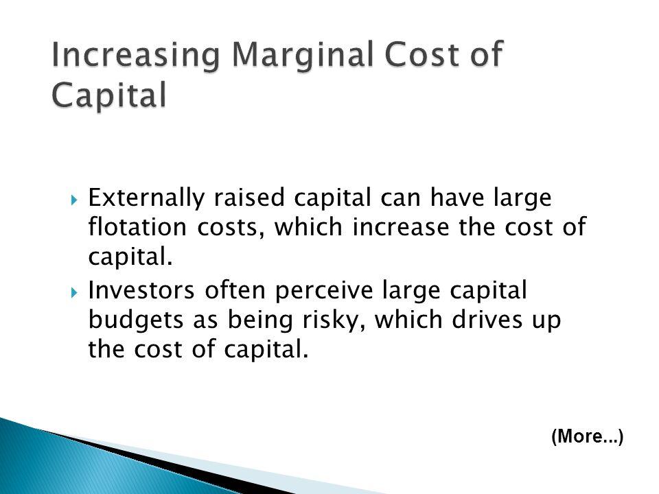 Increasing Marginal Cost of Capital