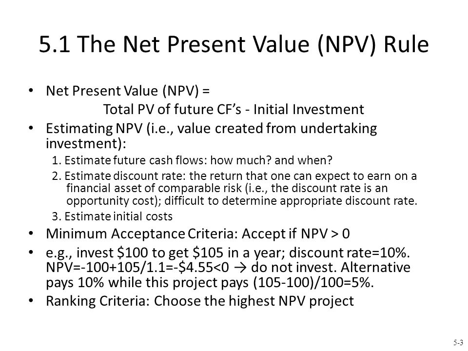 Why Use Net Present Value