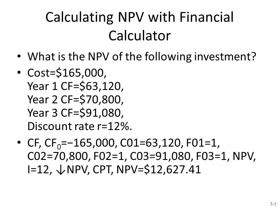Calculating NPV with Spreadsheets