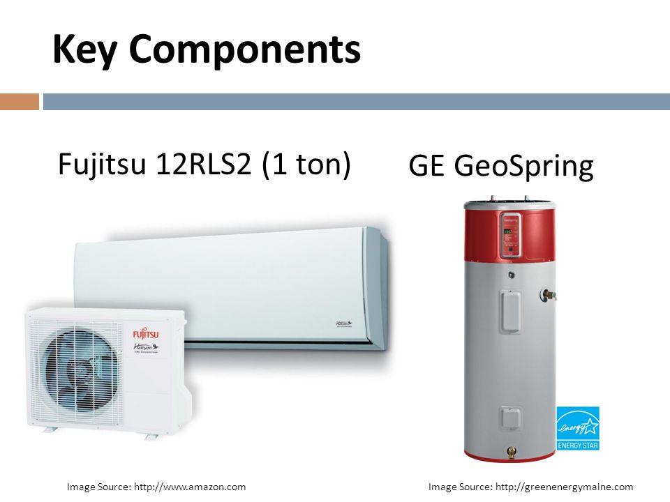 Key Components Fujitsu 12RLS2 (1 ton) GE GeoSpring
