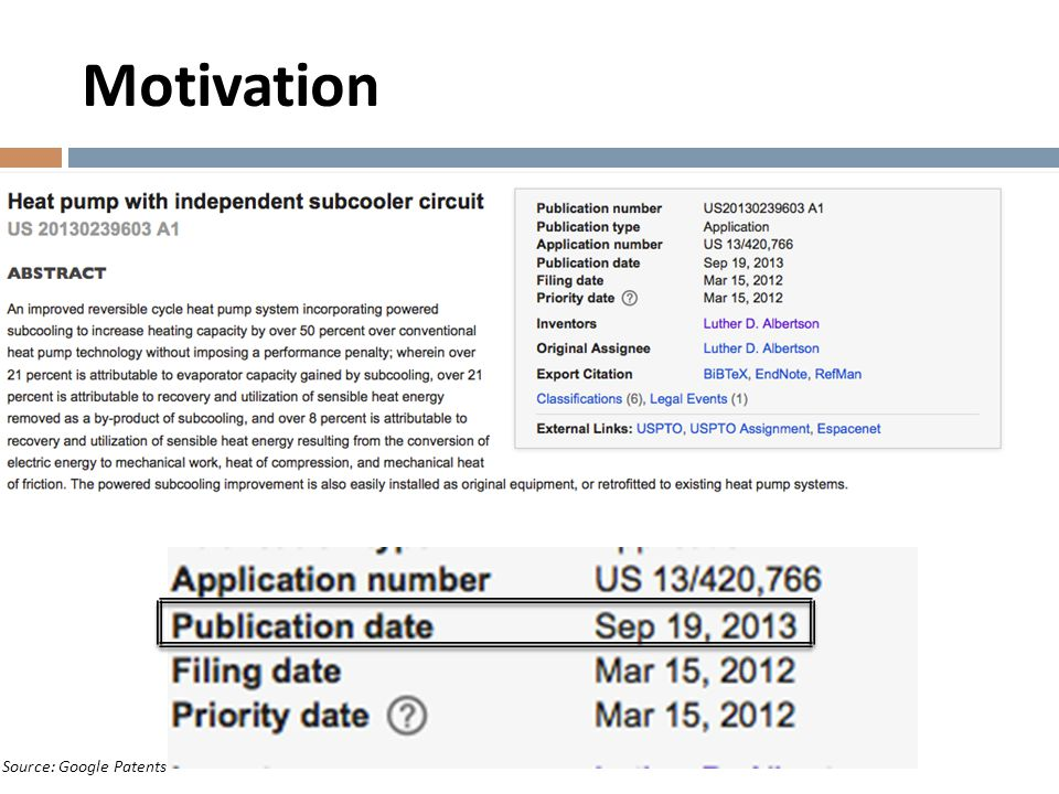 Motivation Source: Google Patents