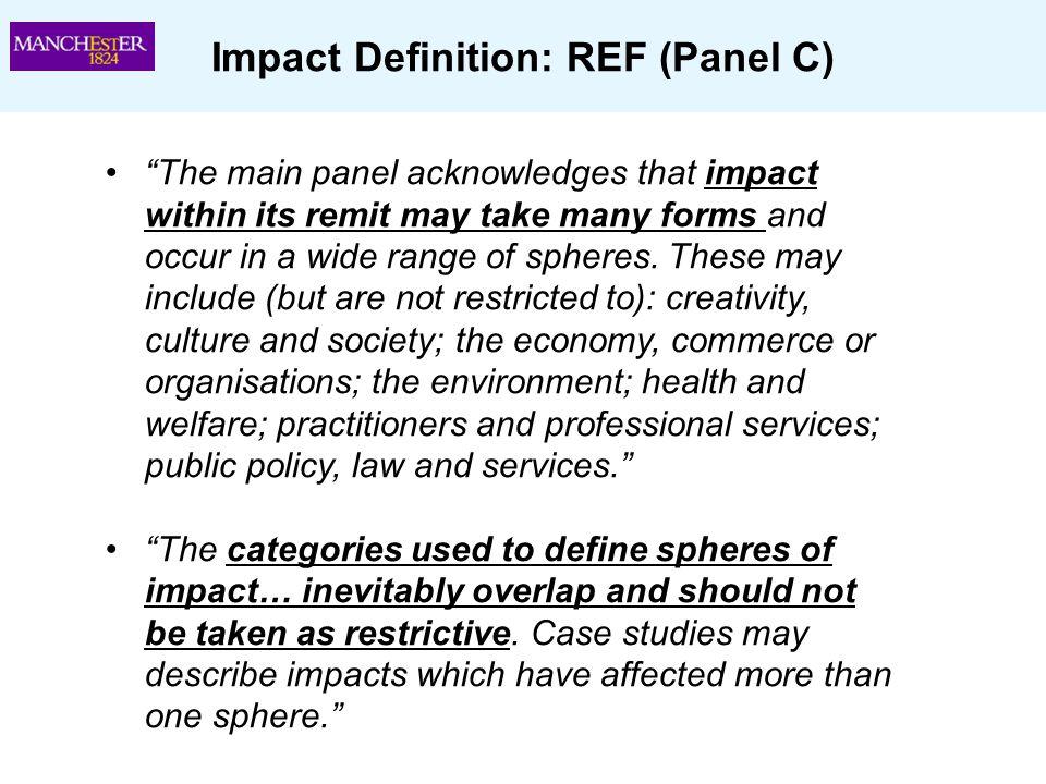 Impact Definition: REF (Panel C)