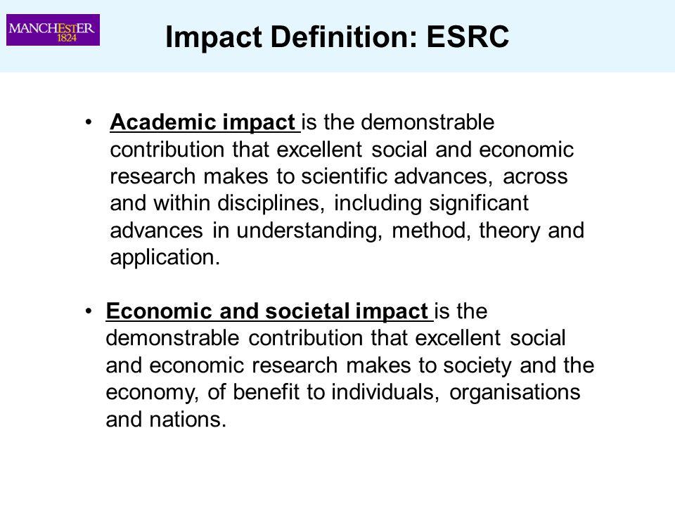Impact Definition: ESRC