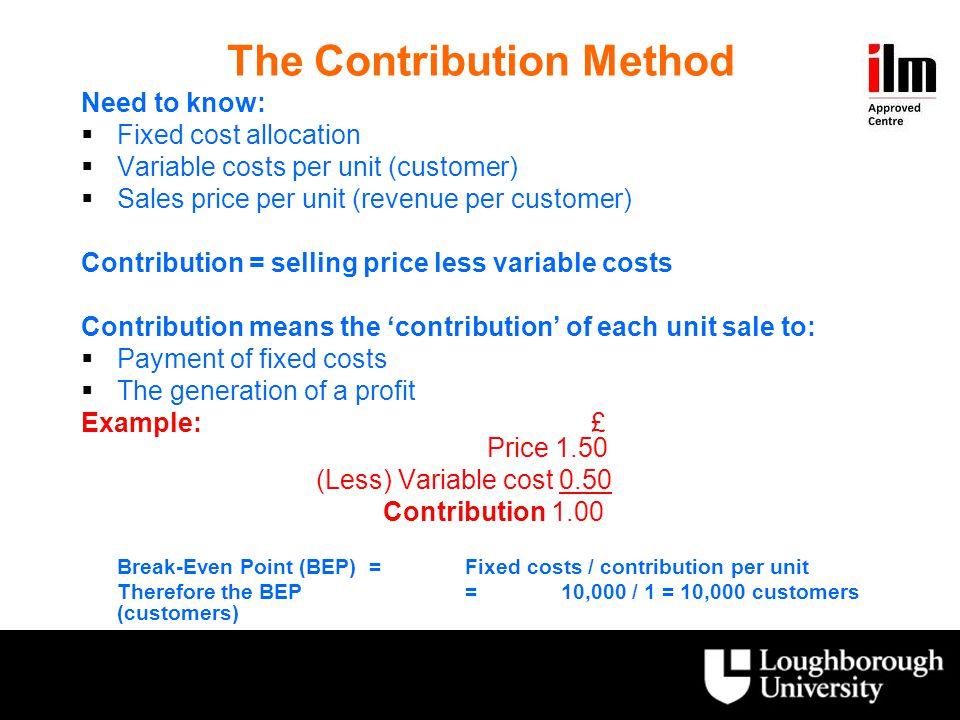 The Contribution Method