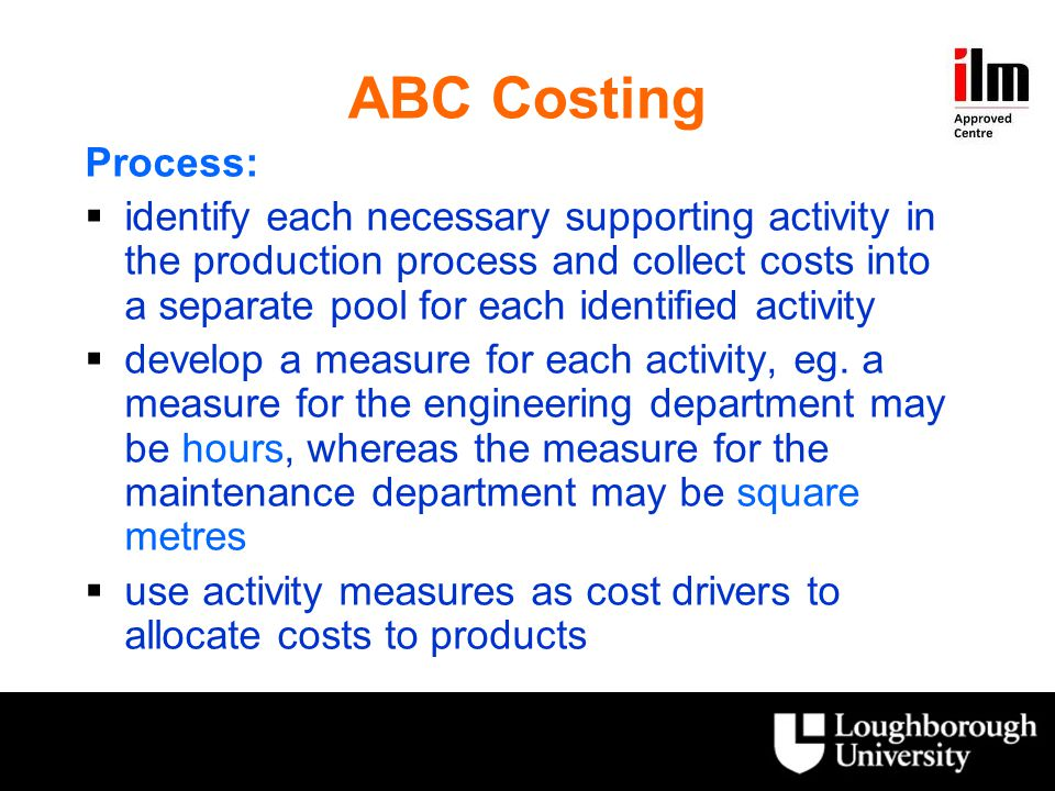 ABC Costing Process: