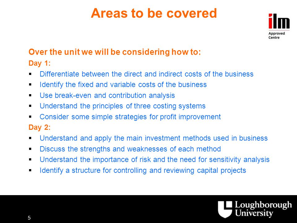 Areas to be covered Over the unit we will be considering how to:
