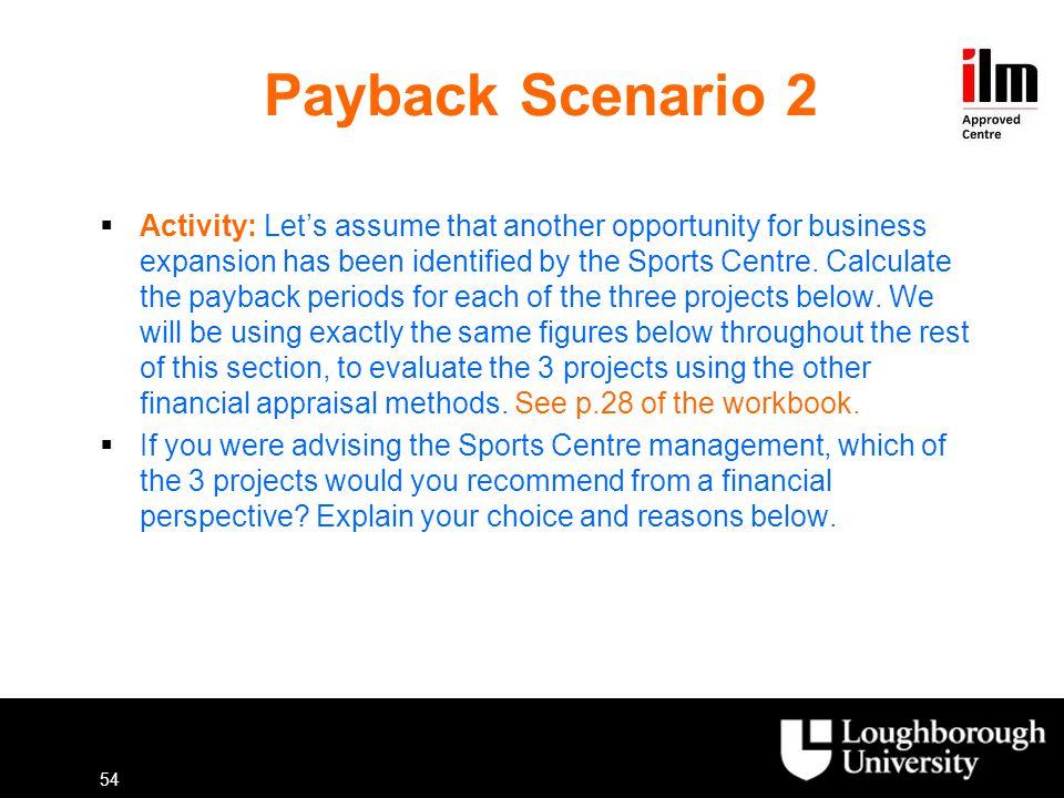 Payback Scenario 2
