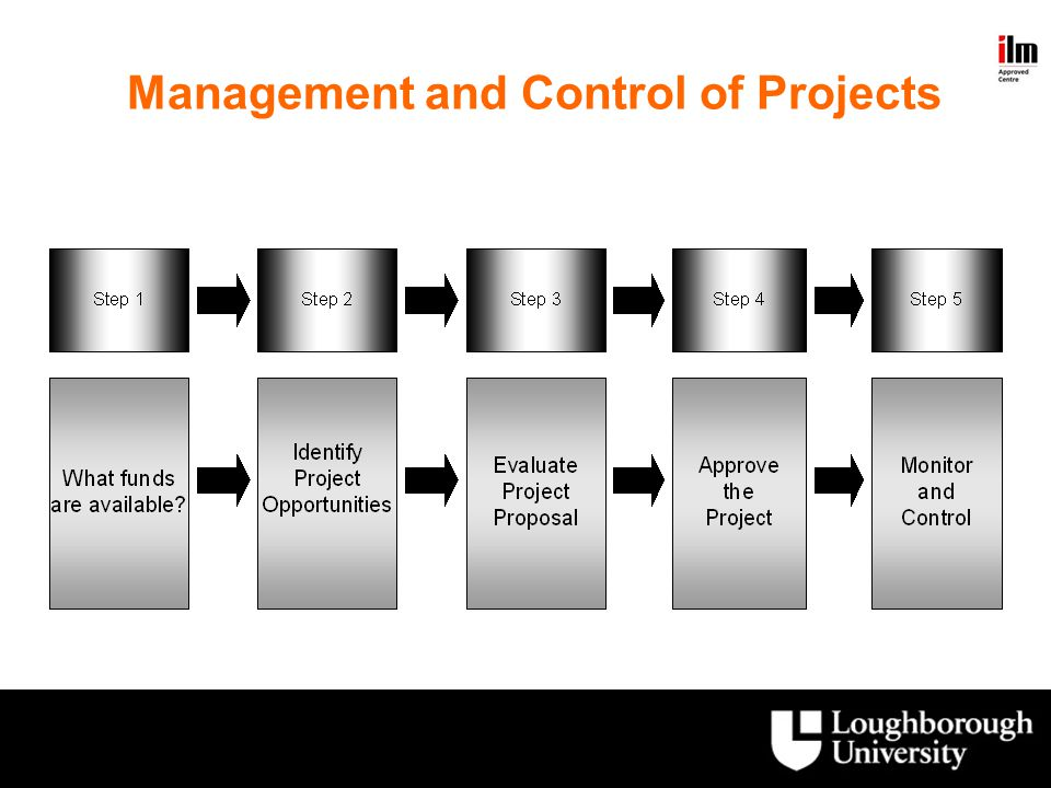 Management and Control of Projects