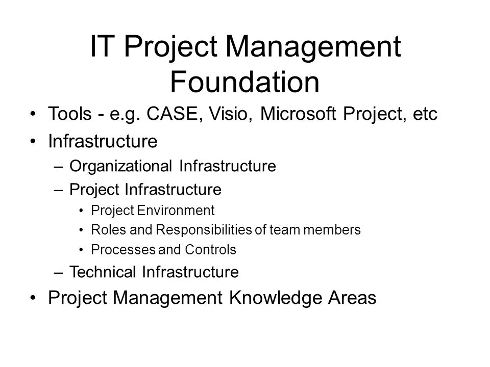 IT Project Management Foundation
