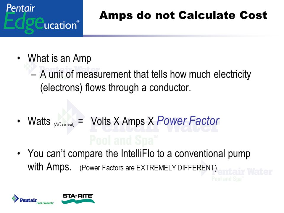 Amps do not Calculate Cost