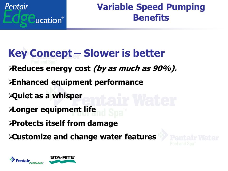 Variable Speed Pumping Benefits