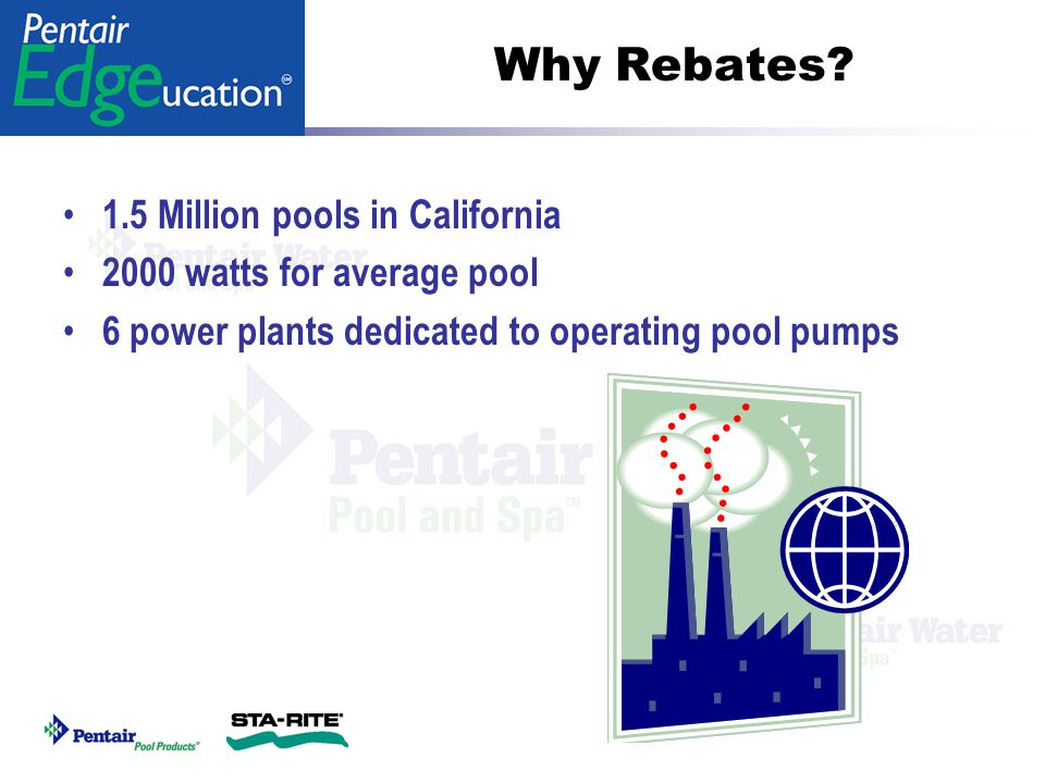 Why Rebates 1.5 Million pools in California