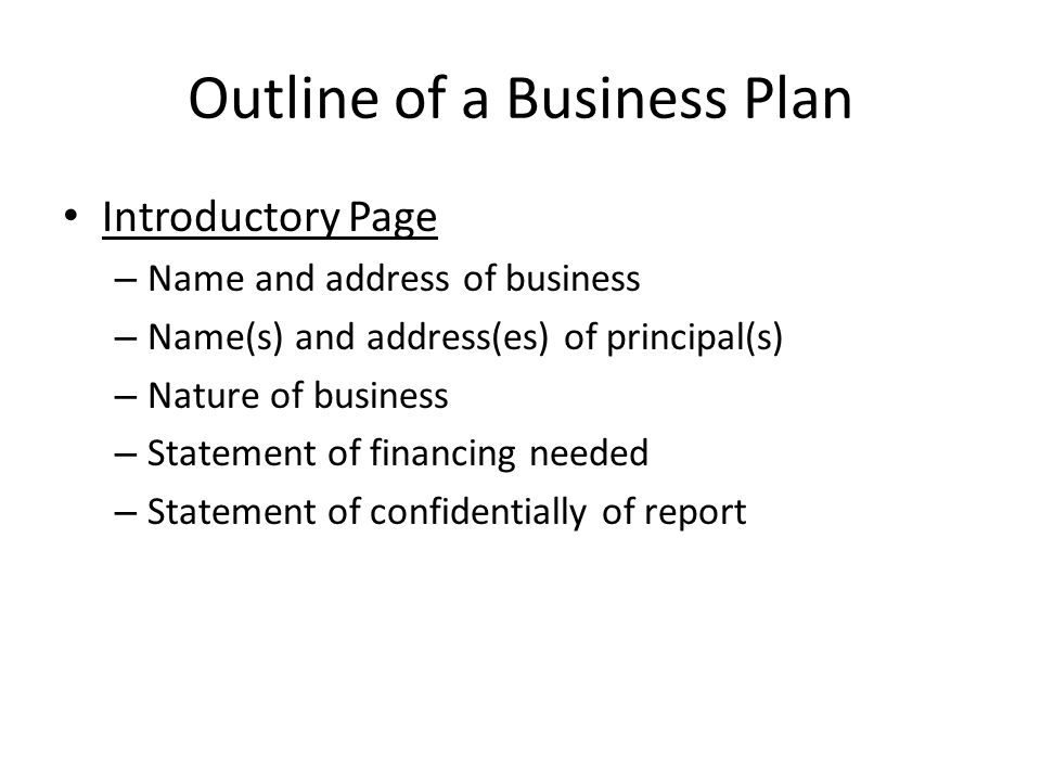 spanish essay structures Business Plan Outline with Examples