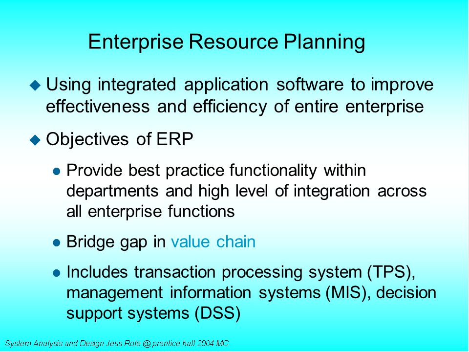 Chapter 15 Packaged Software And Enterprise Resource