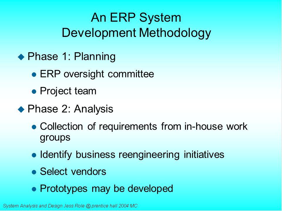 An ERP System Development Methodology