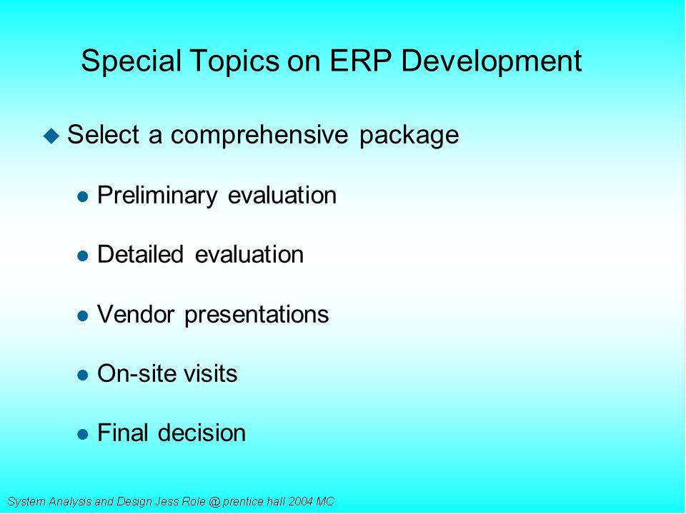 Special Topics on ERP Development