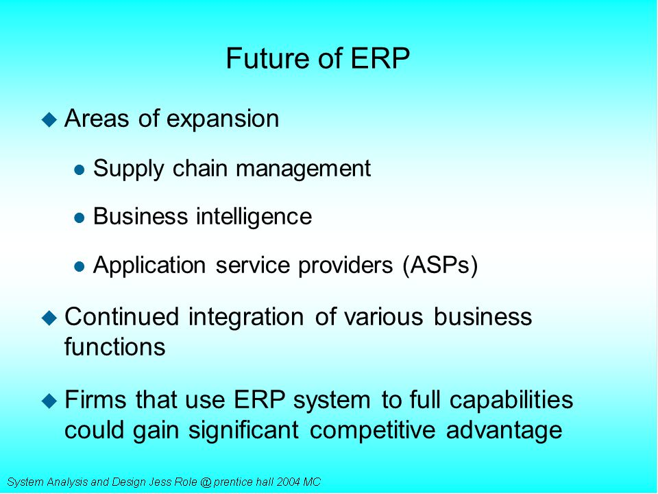 Future of ERP Areas of expansion