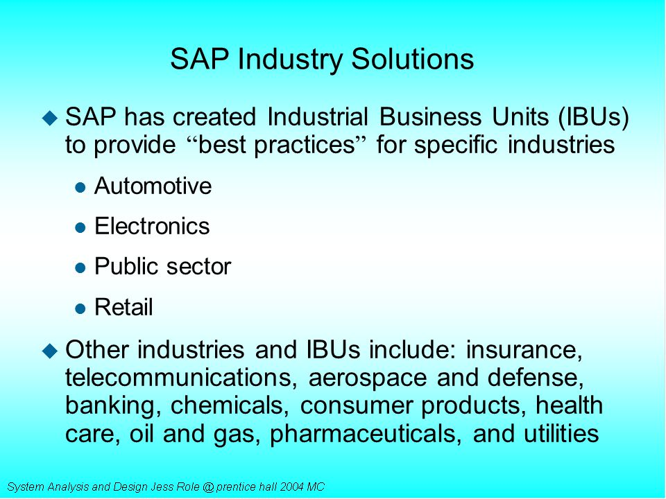 SAP Industry Solutions