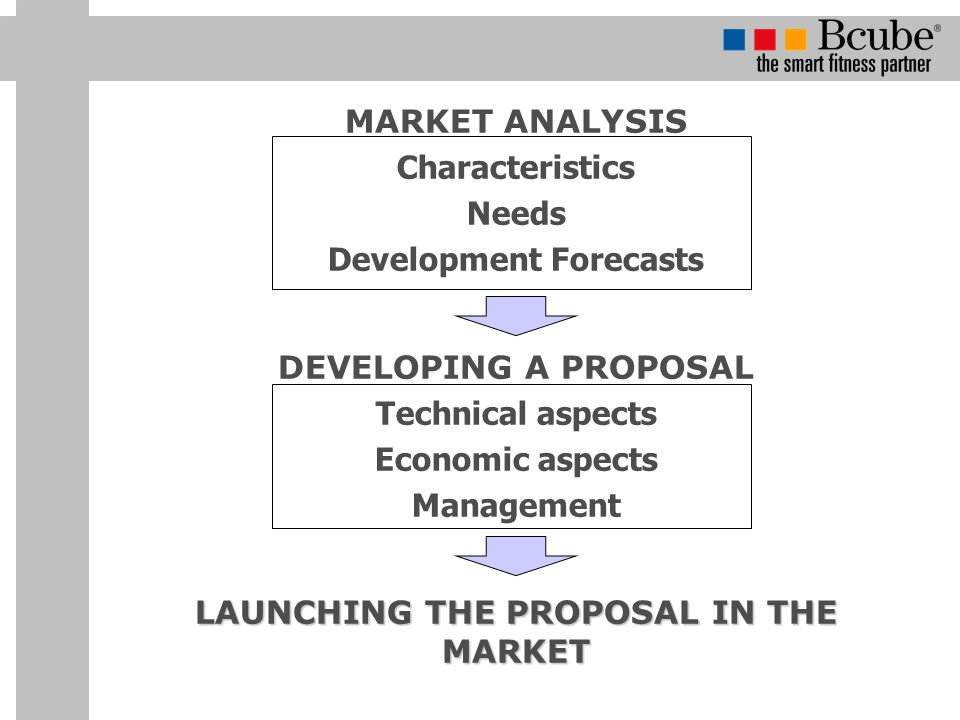 Development Forecasts LAUNCHING THE PROPOSAL IN THE MARKET