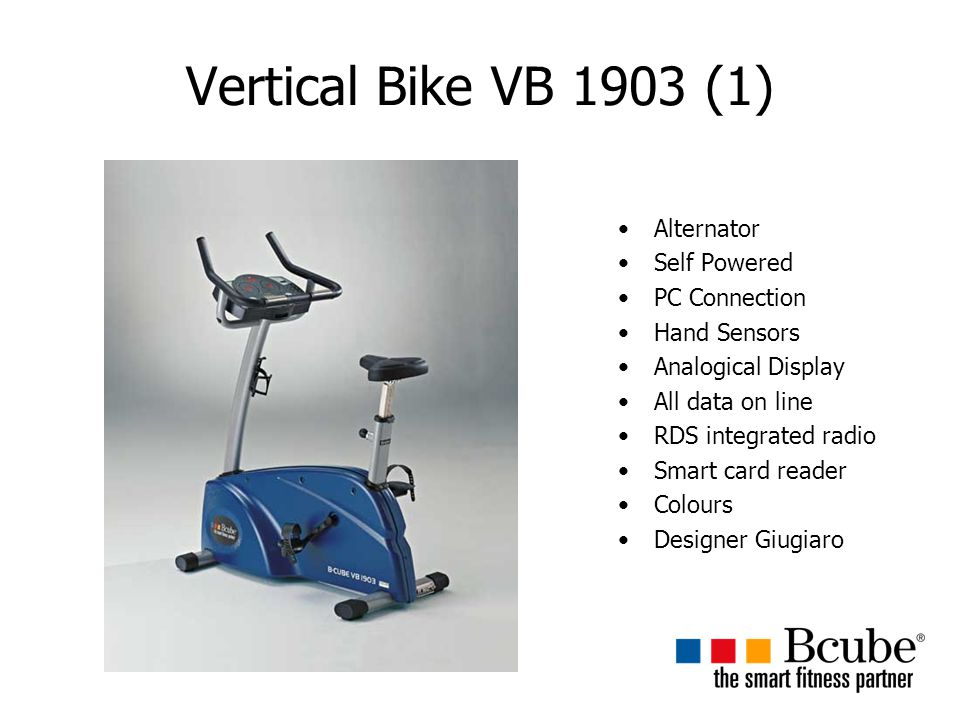 Vertical Bike VB 1903 (1) Alternator Self Powered PC Connection