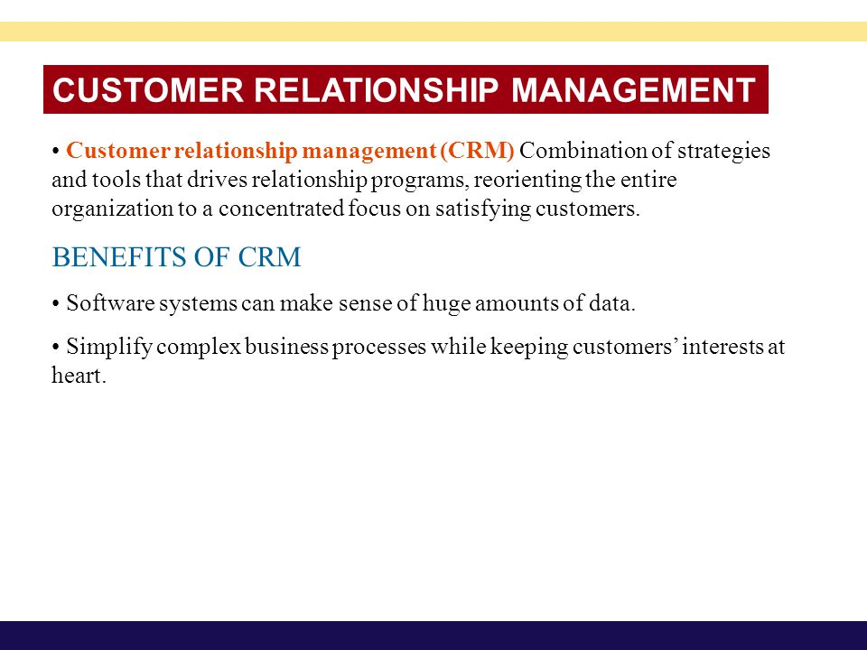 customer relationship management crm benefits