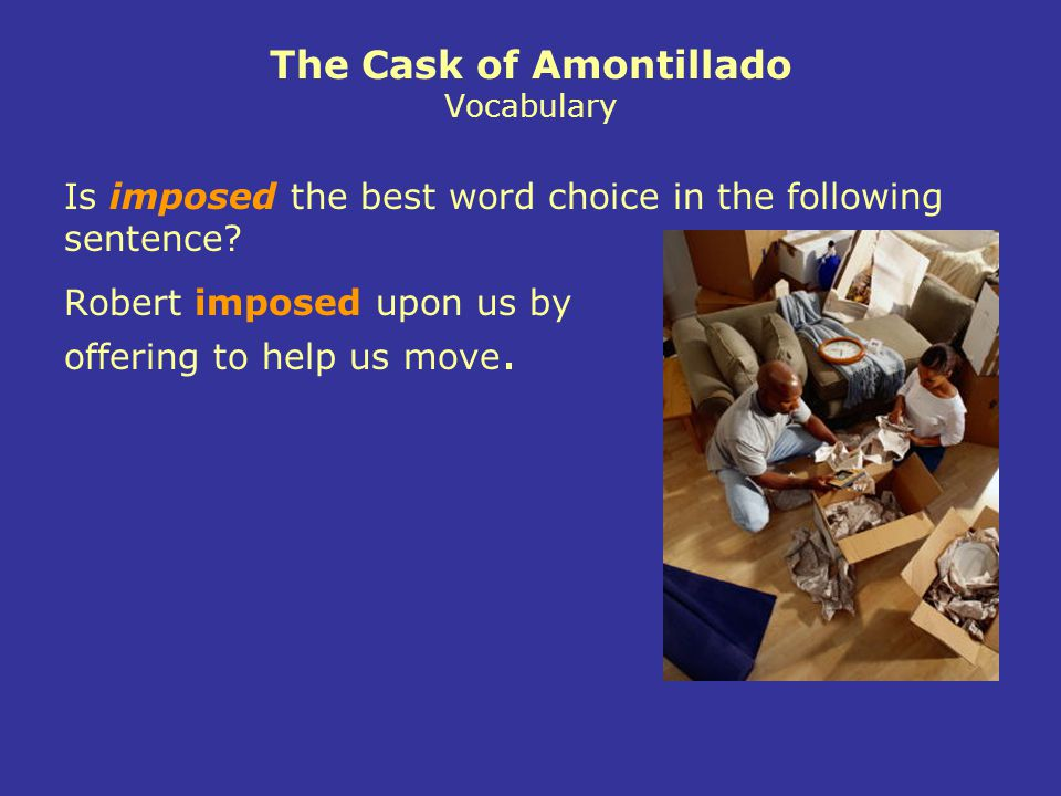 The Cask of Amontillado Vocabulary