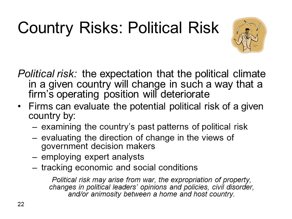 Country Risks: Political Risk