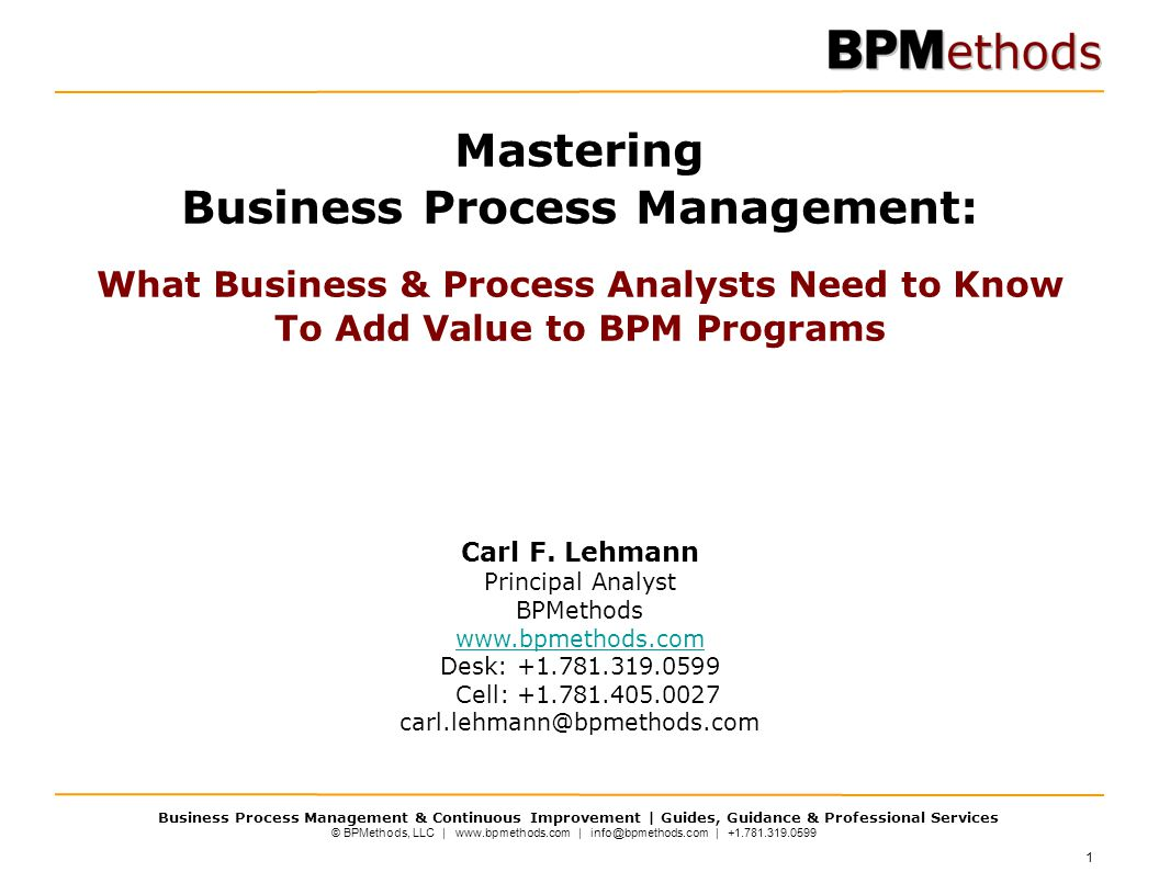 Mastering Business Process Management: