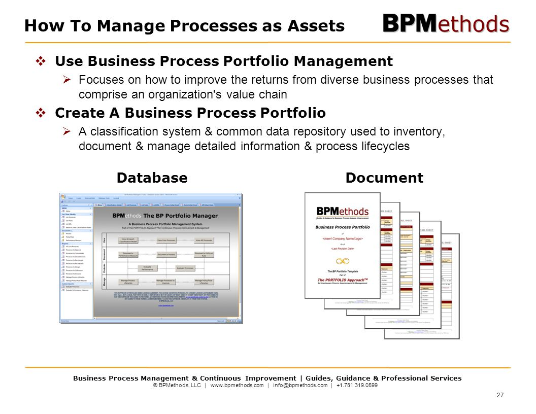 How To Manage Processes as Assets