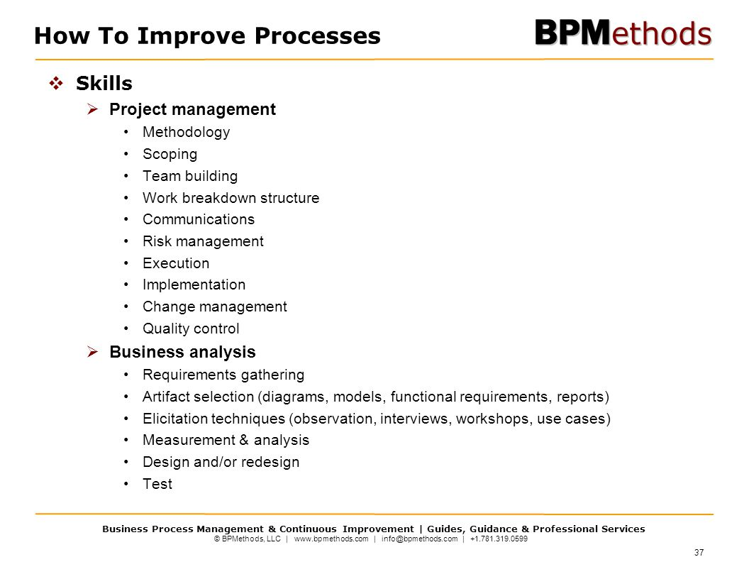 How To Improve Processes