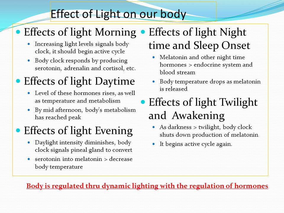 Effect of Light on our body