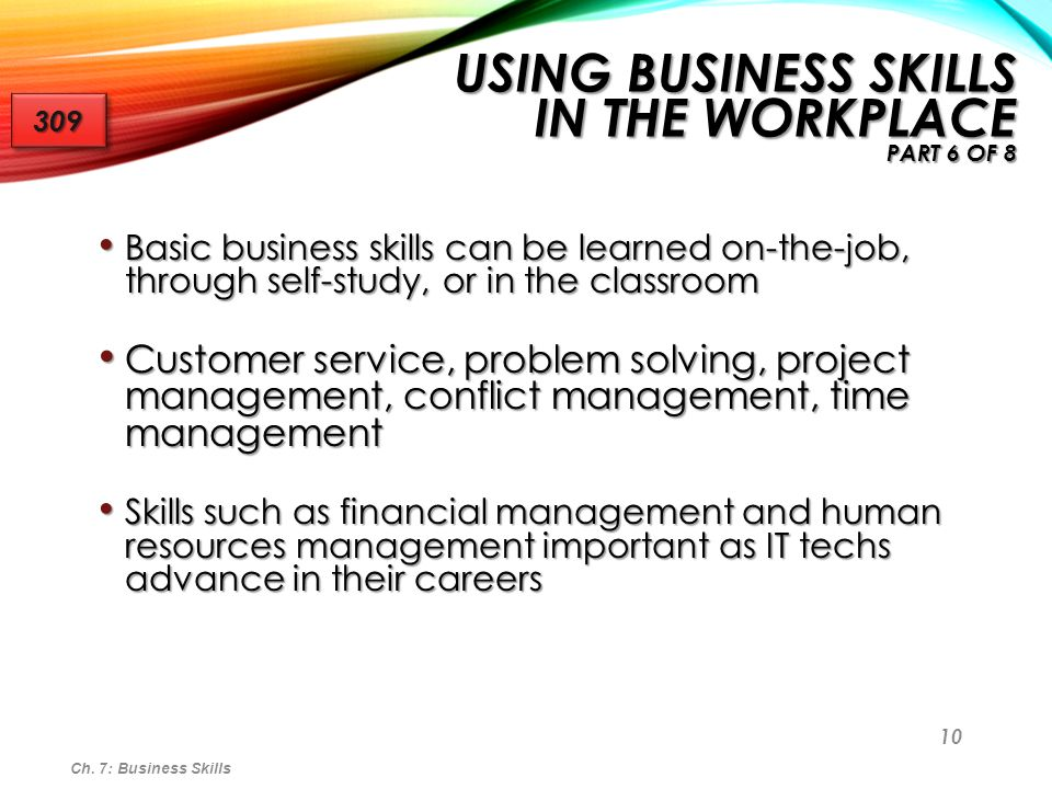 Using Business Skills in the Workplace Part 6 of 8