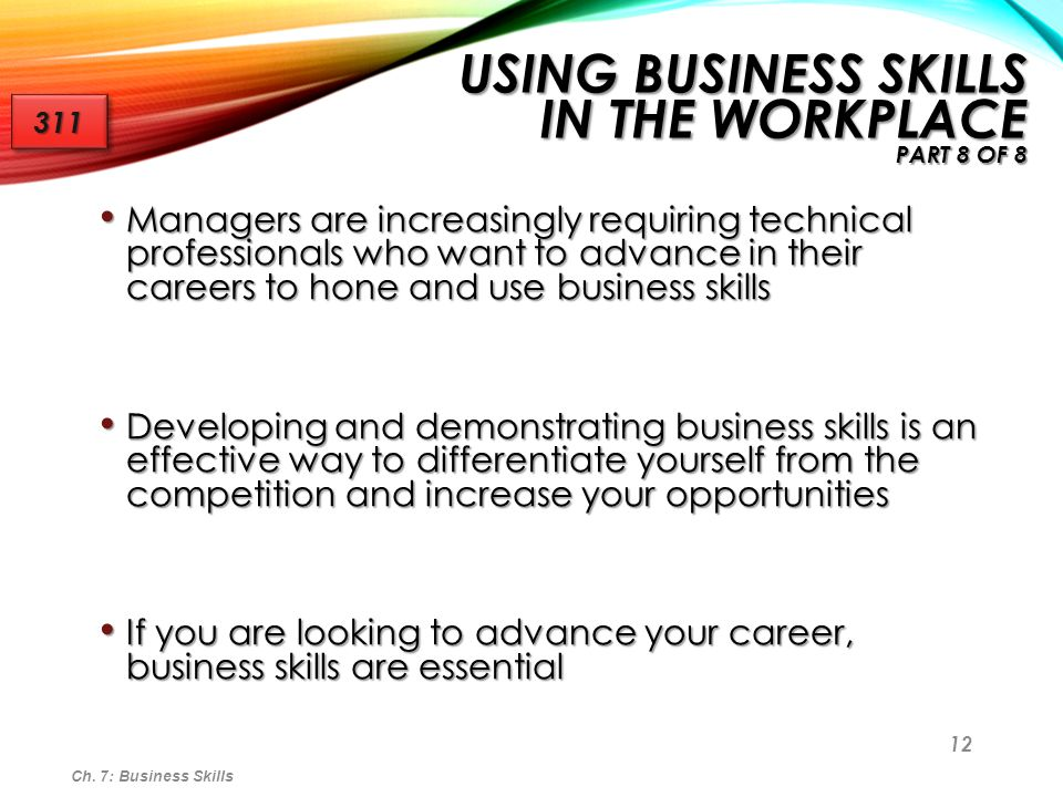 Using Business Skills in the Workplace Part 8 of 8