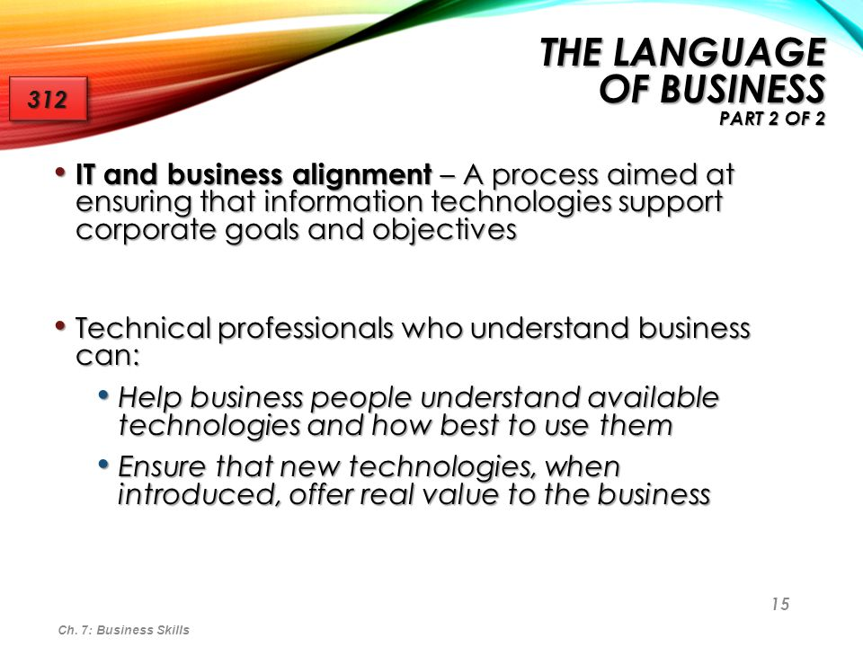 the Language of Business part 2 of 2