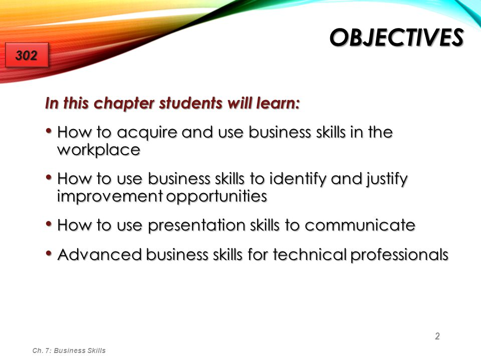 Objectives In this chapter students will learn:
