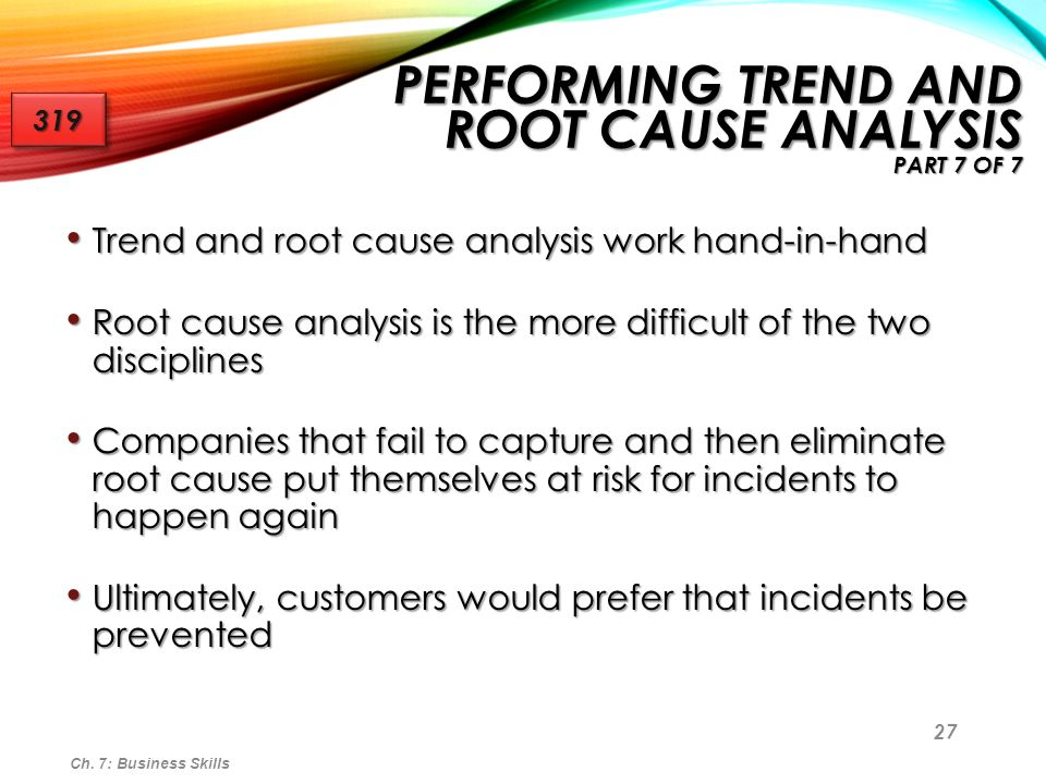 Performing Trend and Root Cause Analysis part 7 of 7
