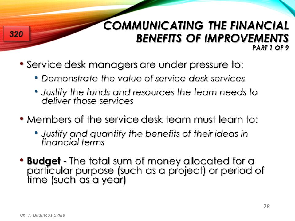 Communicating the Financial Benefits of Improvements Part 1 of 9