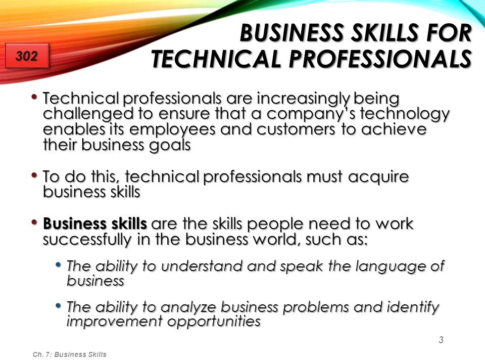 Business Skills for Technical Professionals