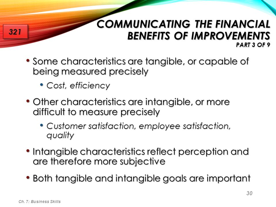 Communicating the Financial Benefits of Improvements Part 3 of 9
