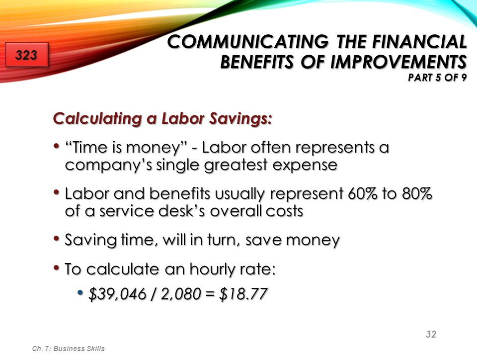 Communicating the Financial Benefits of Improvements Part 5 of 9