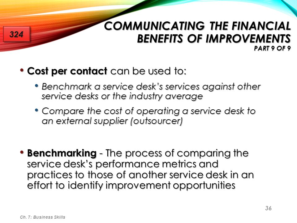 Communicating the Financial Benefits of Improvements Part 9 of 9