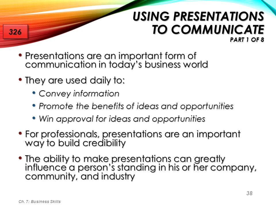 Using Presentations to Communicate Part 1 of 8