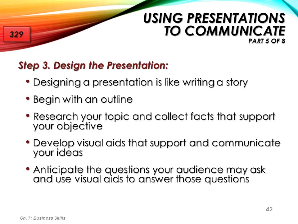 Using Presentations to Communicate Part 5 of 8