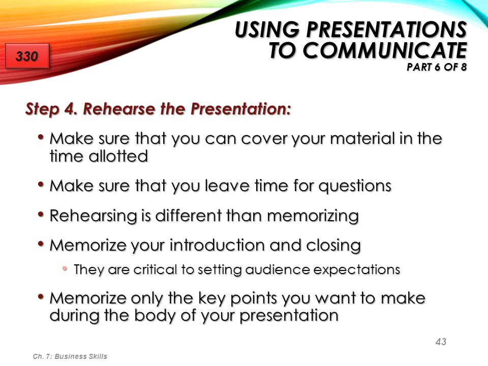Using Presentations to Communicate Part 6 of 8
