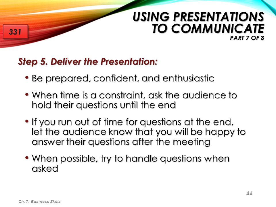 Using Presentations to Communicate Part 7 of 8