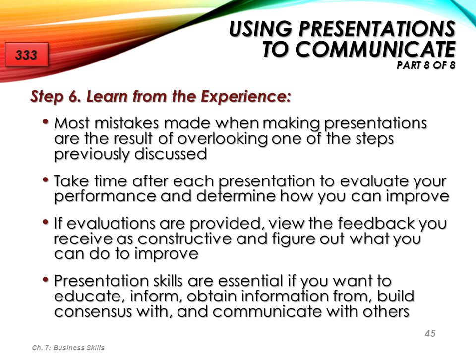 Using Presentations to Communicate Part 8 of 8