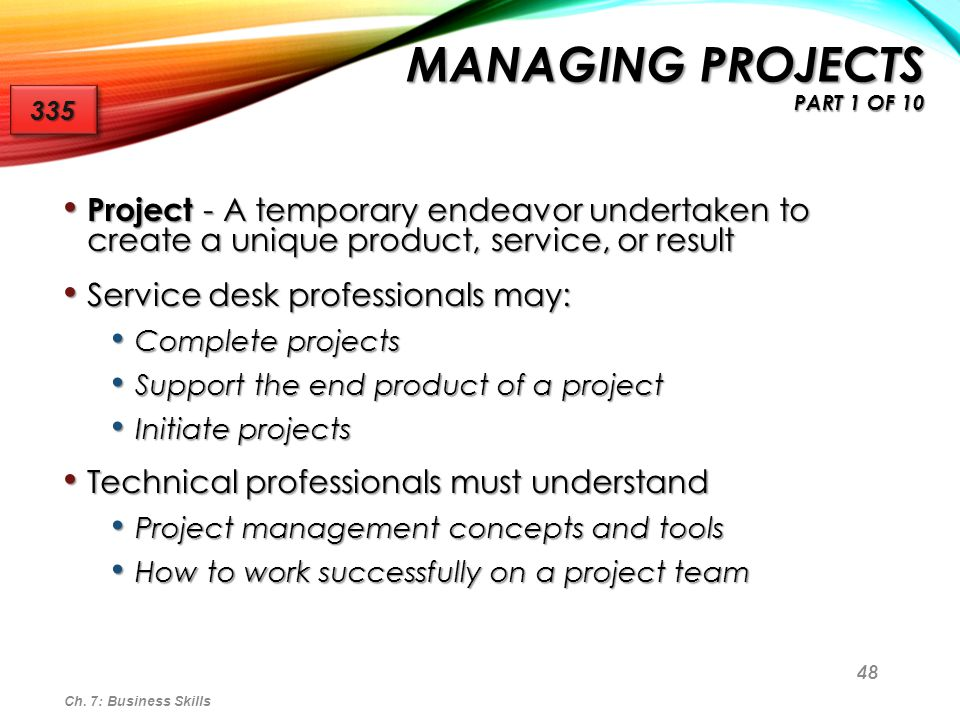 Managing Projects part 1 of 10